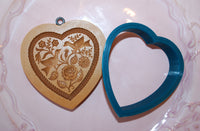 Custom Cookie Cutter: Anis Paradies Heart with Doves, Rose, and Flowers 5100