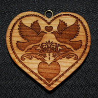 Heart with Doves Springerle Mold Springerle Emporium