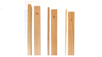 Set of six dough thickness rolling guides for springerle emporium