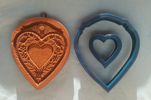 heart for personalization mold springerle emporium cookie cutter