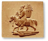Santa Claus on a Donkey with Gifts Springerle Cookie Mold