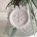 finely carved snowflake springerle cookie sample emporium