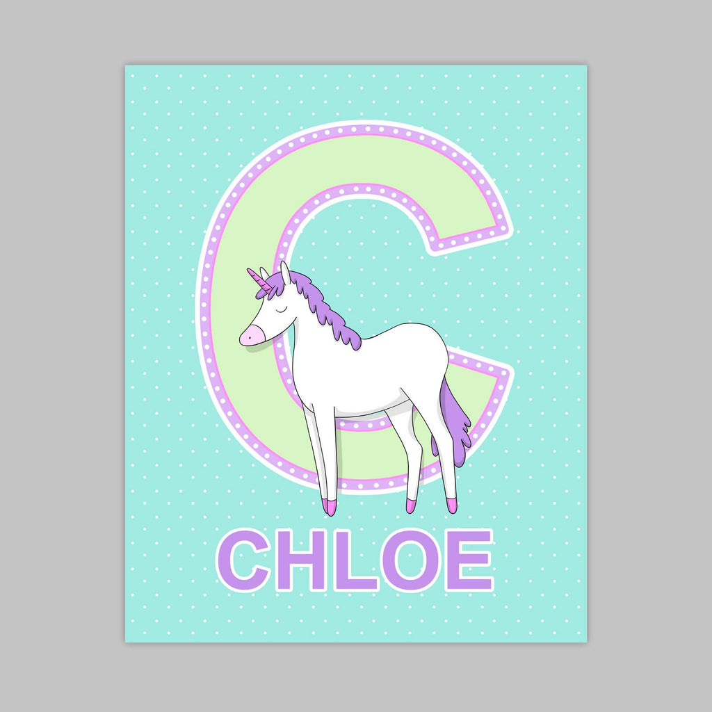 Unicorn Letter Print | Delight Color