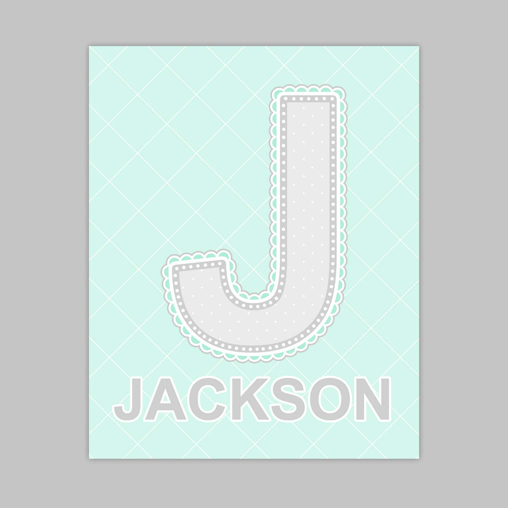 Lace Pattern Letter Print | Minty Color