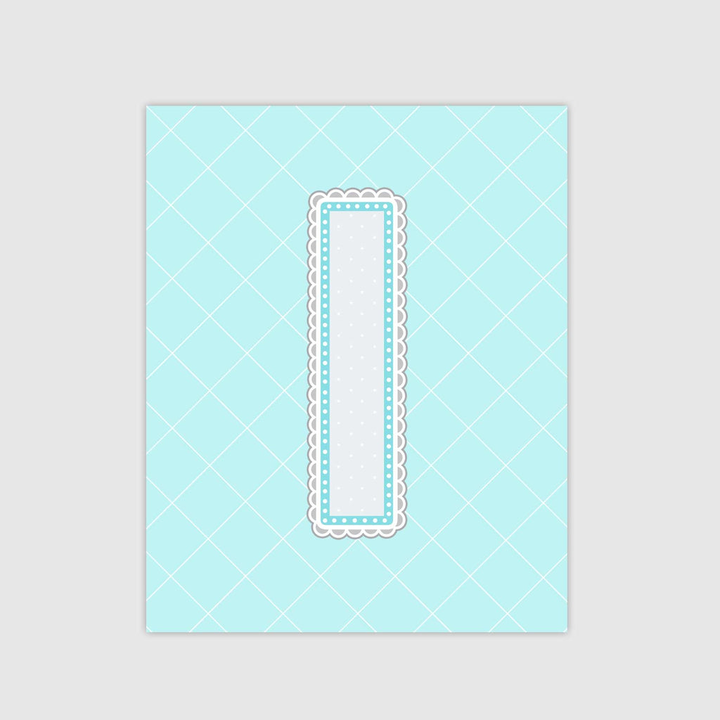 Lace Pattern Letter Print | Icy Color