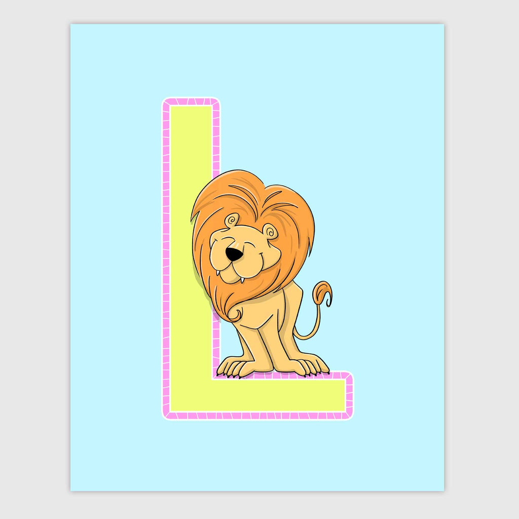 Zoo Animal Letter Print | Lollipop Color