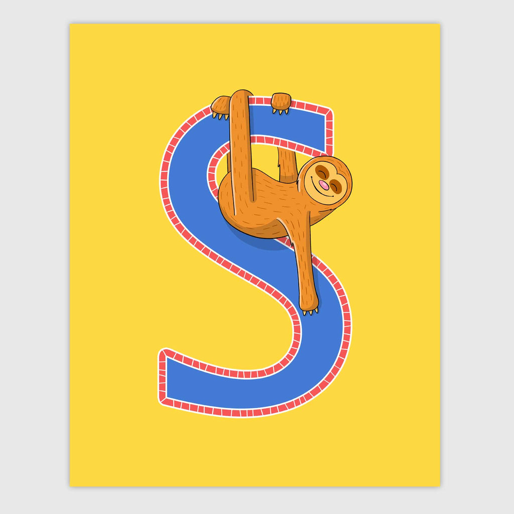 Zoo Animal Letter Print | Primary Color