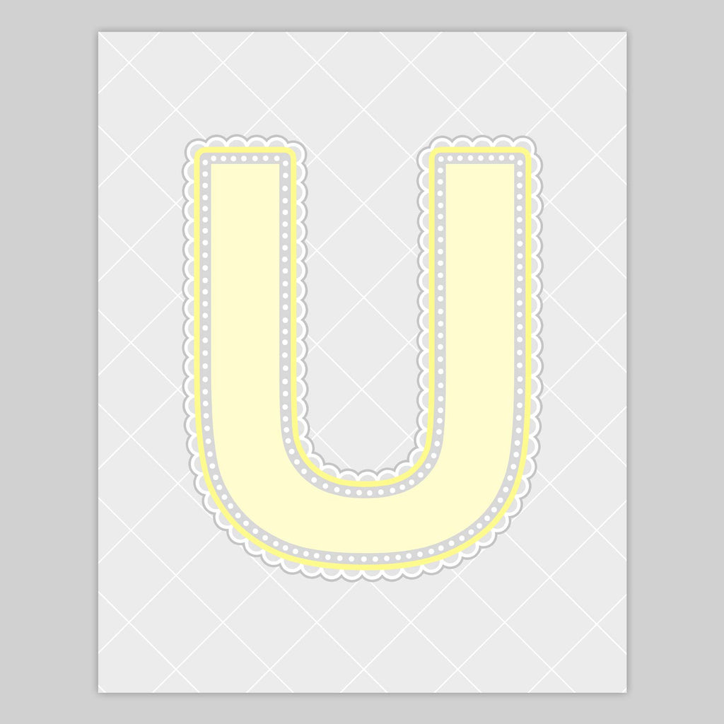Lace Pattern Letter Print | Lemonade Color