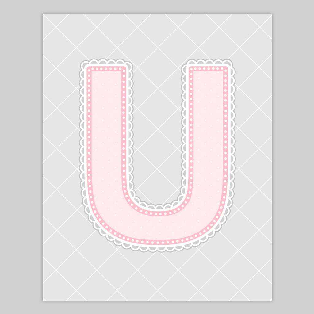 Lace Pattern Letter Print | Pinkish Color