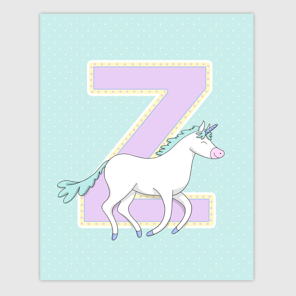 Unicorn Letter Print | Dreamy Color