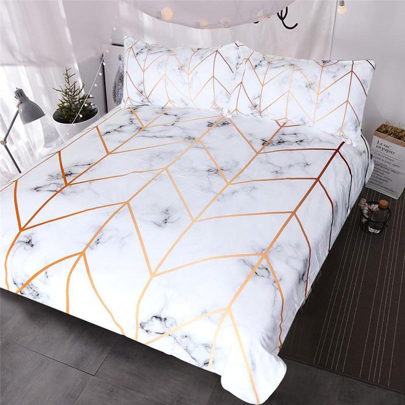 Marble Arrow Duvet Cover Set