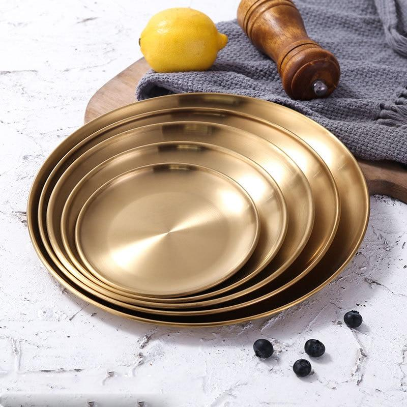 Golden Element Plates