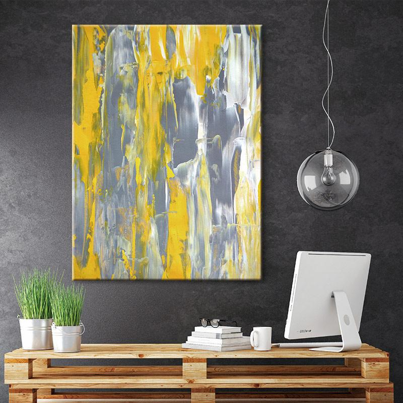 Melting Color Stretched Canvas