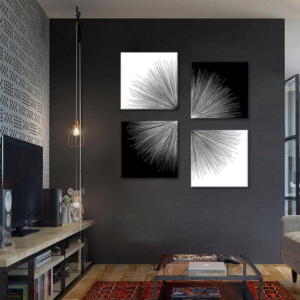 Light in Contrast 4 Piece Stretched Canvas