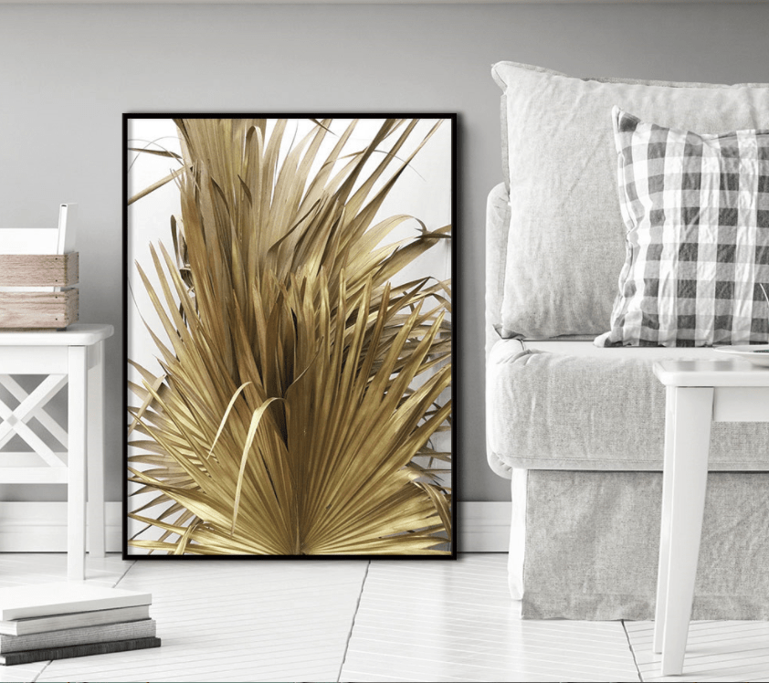 Golden Leaf Stretched Canvas
