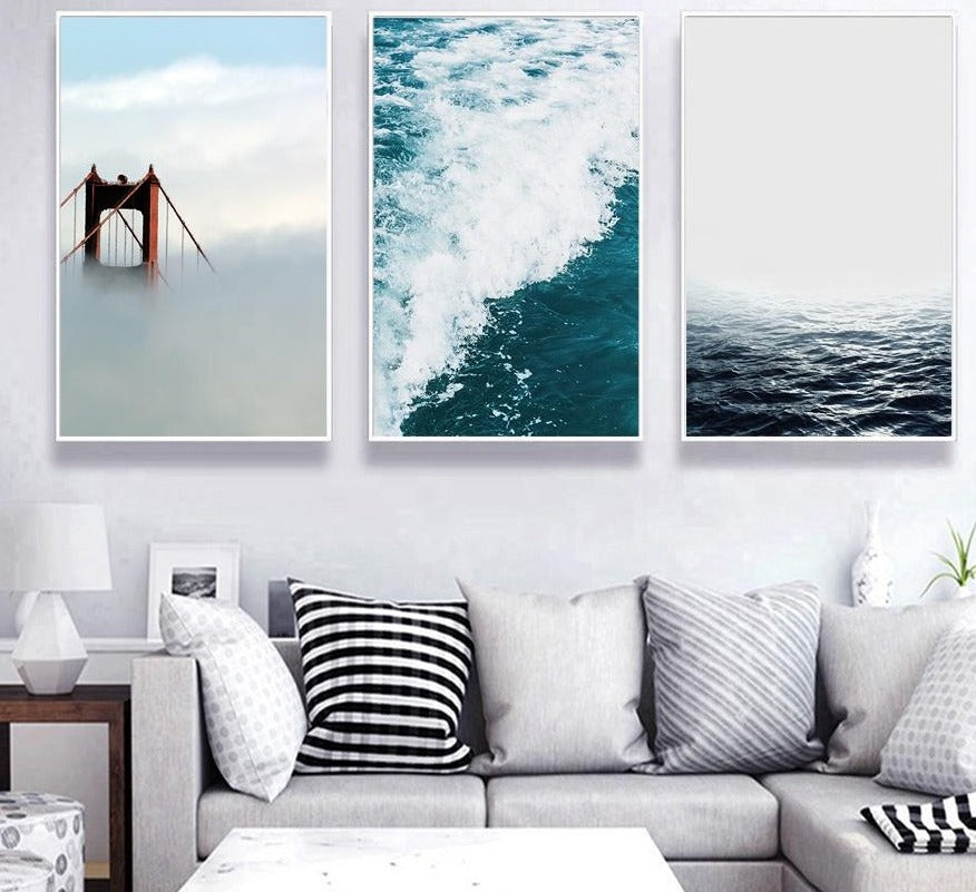 Swam of Blue Canvas Art