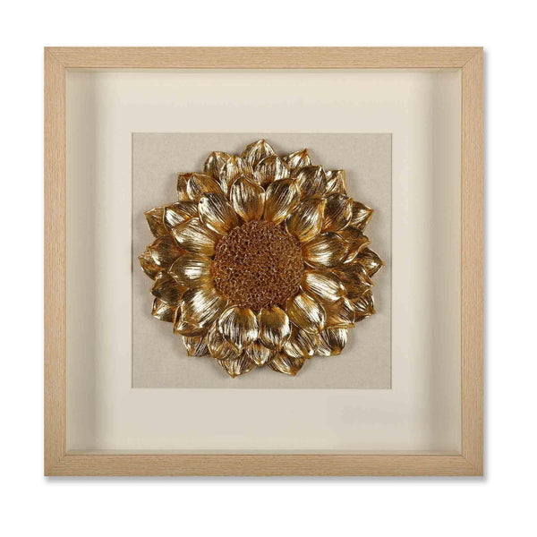 Golden Sunflower 3D Wall Decor