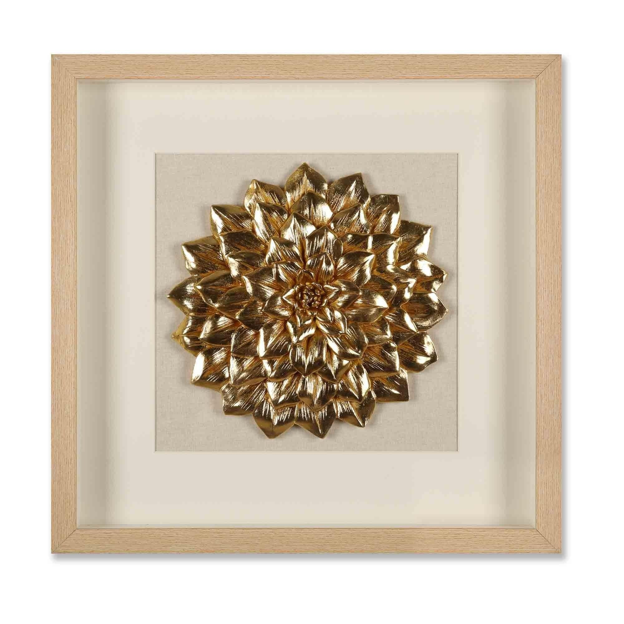 Golden Lotus 3D Wall Decor