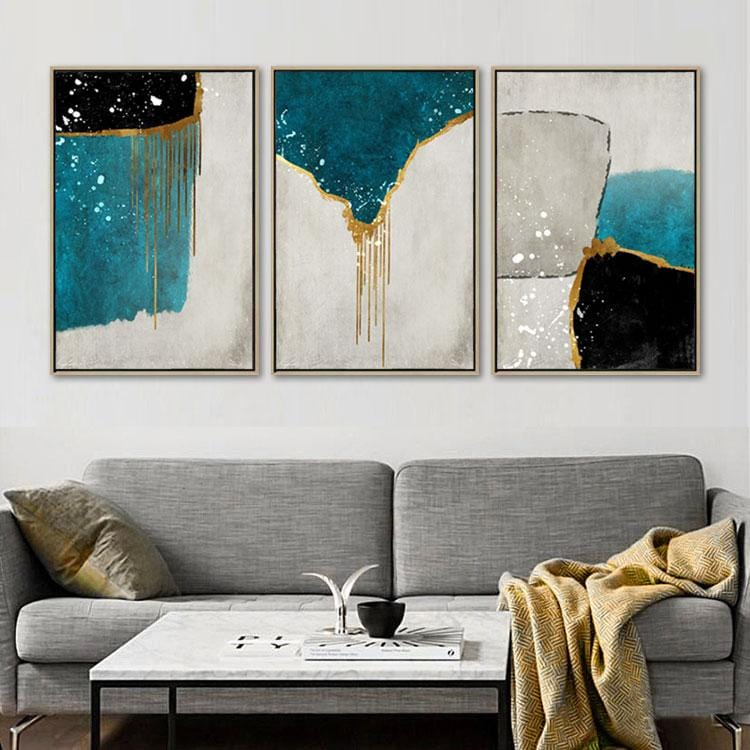 Melting Walls Stretched Canvas