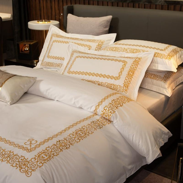 Modern Simplicity Egyptian Cotton Duvet Cover Set
