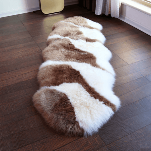 Mixed 100% Sheepskin Rug