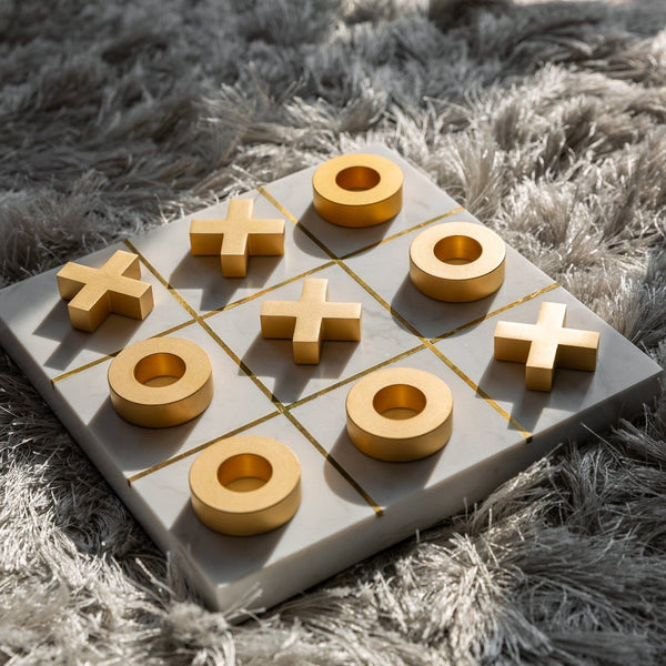 Marble Tic-Tac-Toe Game