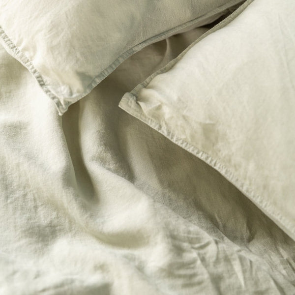 Olive European Linen Duvet Cover Set
