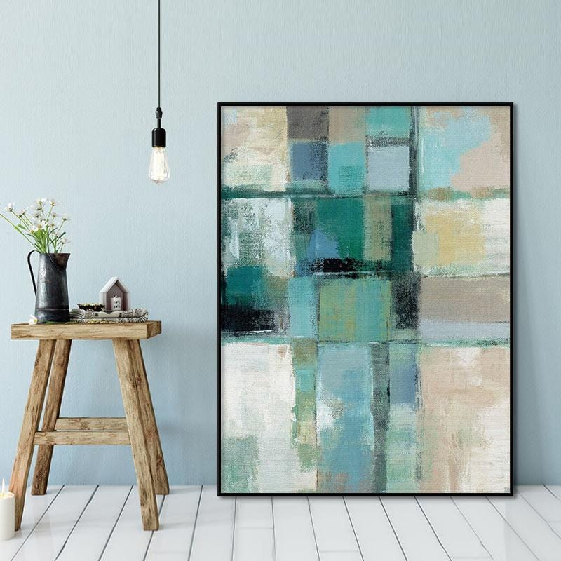 Teal of Art  Stretched Canvas
