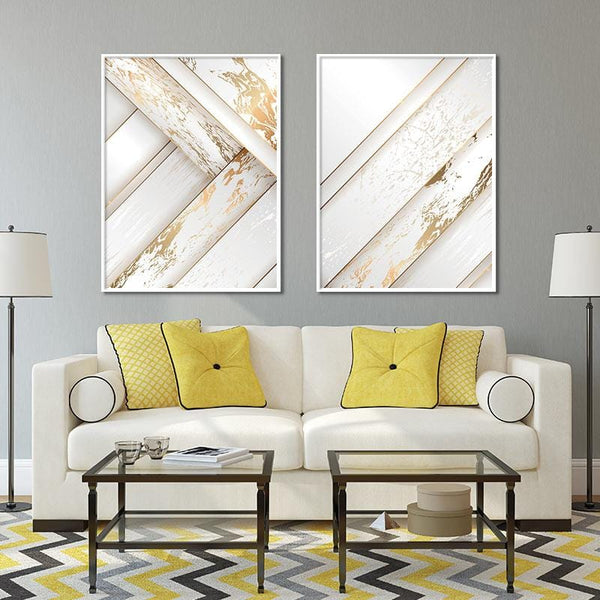 Golden Rays Stretched Canvas