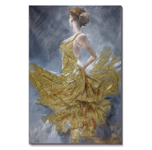 Golden Distress Oil Painting