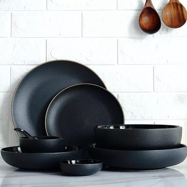 Rigorous Black Dining Set