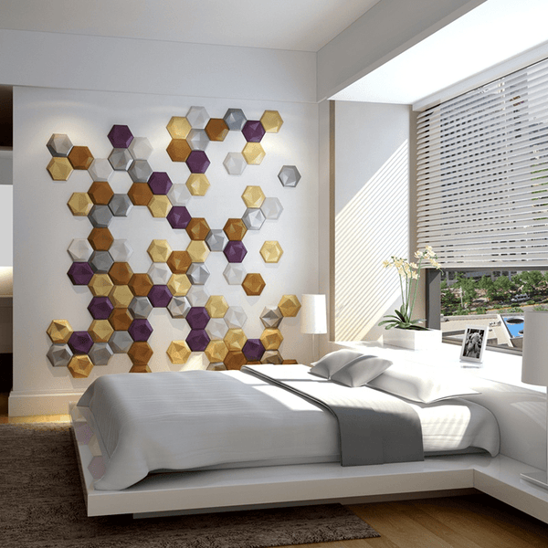 Inverted Hexagon Acoustic 3D Wall Panel