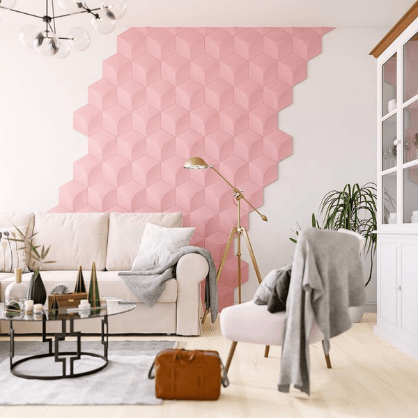 Cube Styled Hexagon Acoustic 3D Wall Panel