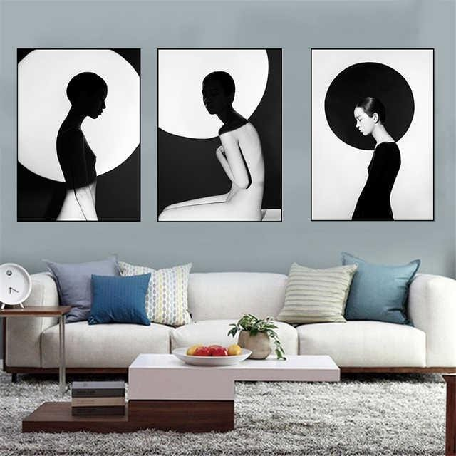 Modern Woman Stretched Canvas