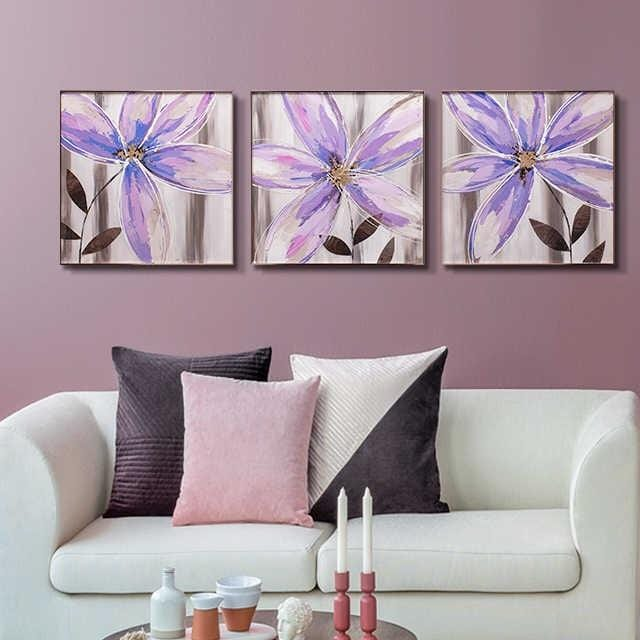 Lavender Flora Stretched Canvas