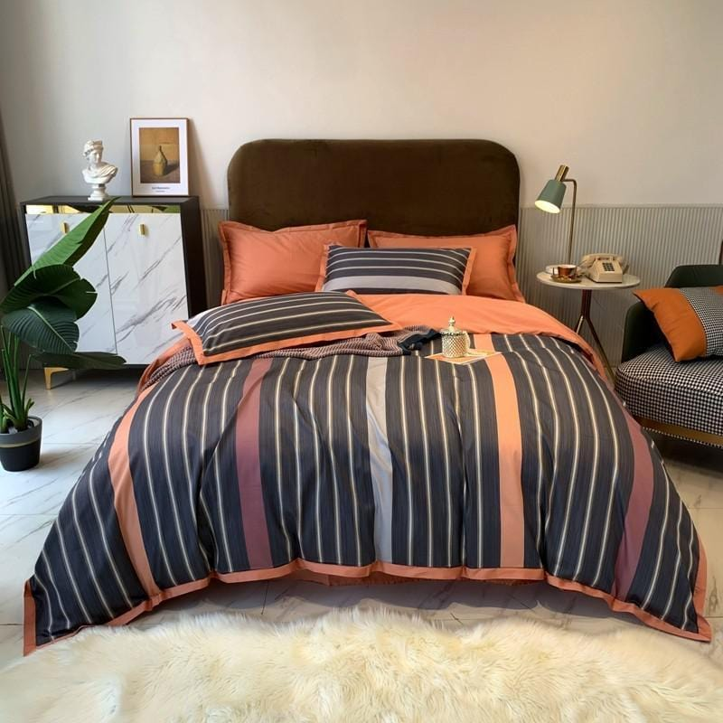 Striplen Duvet Cover Set (Egyptian Cotton)