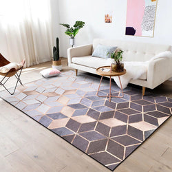 Rose Gold Euclid Rug
