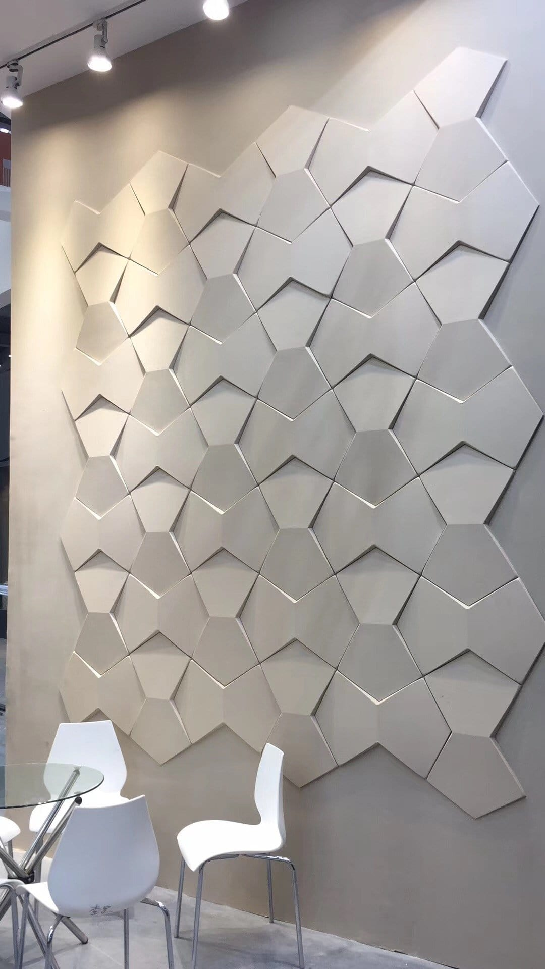 Bowtie Styled Acoustic 3D Wall Panel