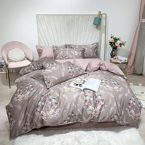 Feather Silk Duvet Cover Set
