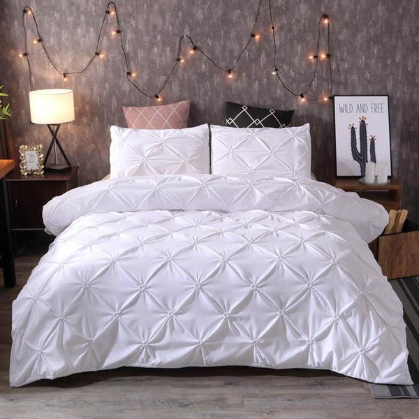 Pinch Pleat 3-Piece Duvet Cover Set