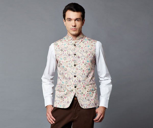 White colored Nehru jacket