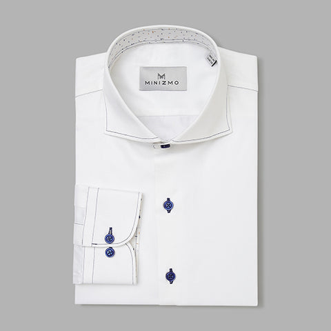 Madison White Cotton Shirt