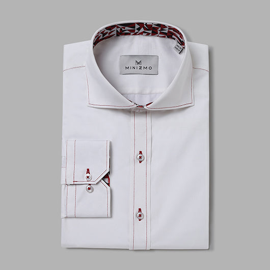 Wolf White Cotton Shirt
