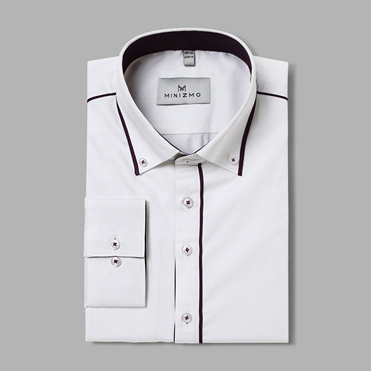 Rapidez White Shirt with Black Detailing