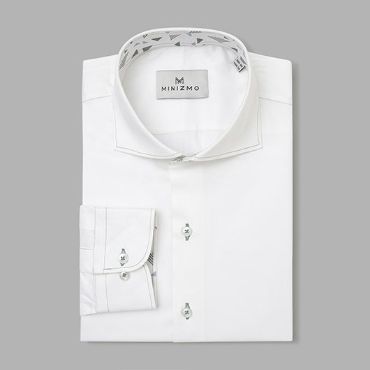 Trenton White Cotton Shirt