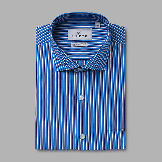 Blue Depth Half Sleeve Cotton Shirt