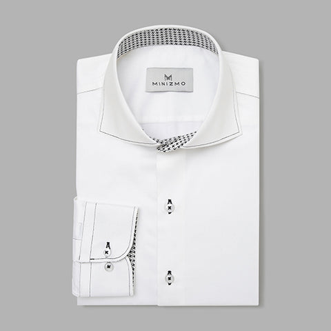 Bruce White Cotton Shirt