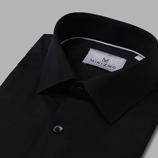 Frozen Black Cotton Shirt