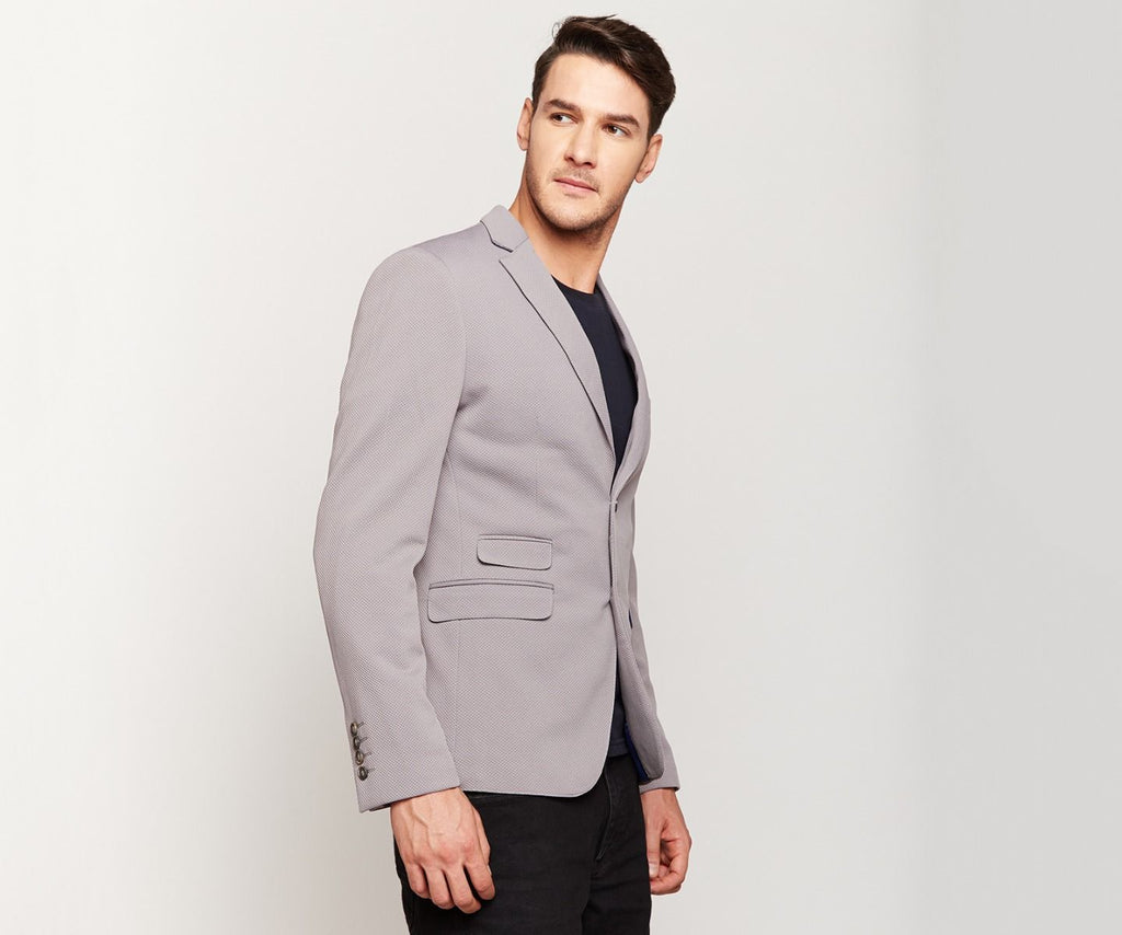 Light Grey Knit Blazer