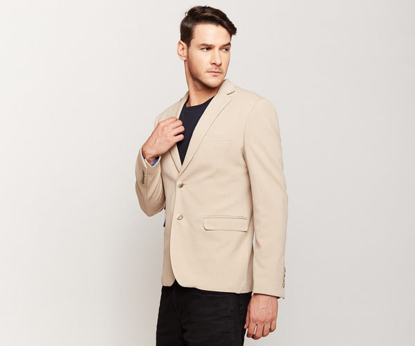 Tan Knit Blazer